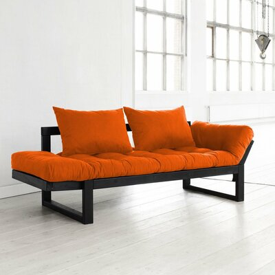 Futon and Mattress Finish: Orange/Black