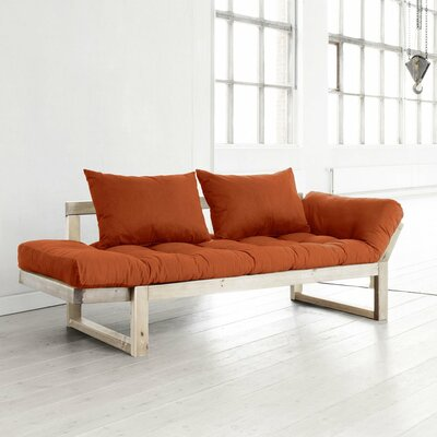 Futon and Mattress Finish: Orange/Natural