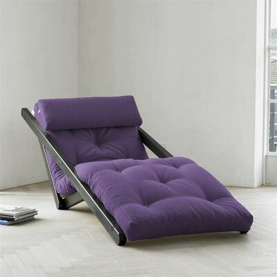 Figo Futon Chair Upholstery Color: Purple, Finish: Black