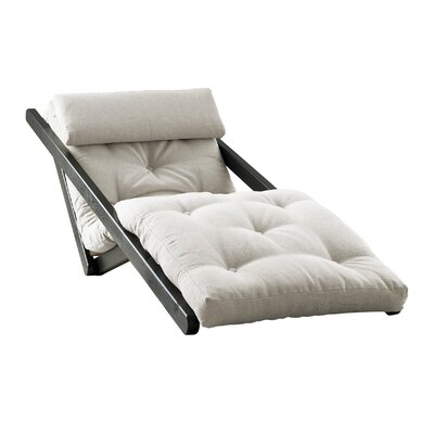 Figo Futon Chair Upholstery Color: White, Finish: Black
