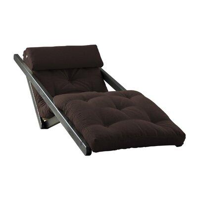 Figo Futon Chair Upholstery Color: Brown, Finish: Black
