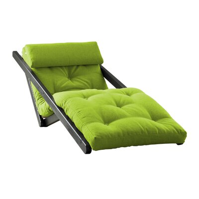 Figo Futon Chair Upholstery Color: Light Green, Finish: Black