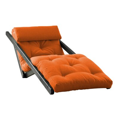 Figo Futon Chair Upholstery Color: Orange, Finish: Black