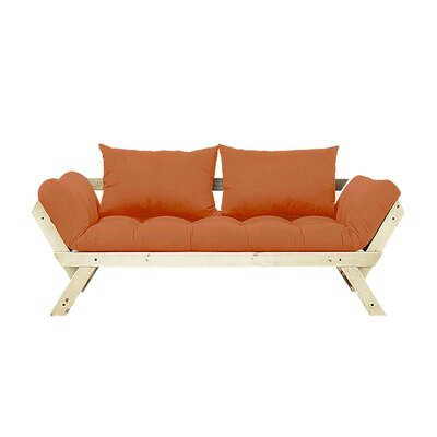 Bebop Futon and Mattress Finish: Natural/Orange