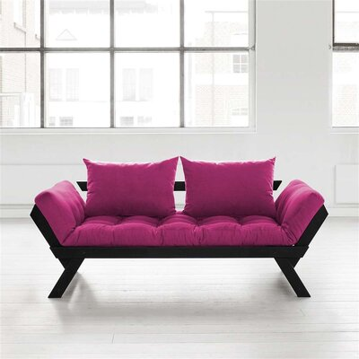 Bebop Futon and Mattress Finish: Black/Pink