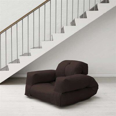 Hippo Futon Chair Upholstery: Chocolate