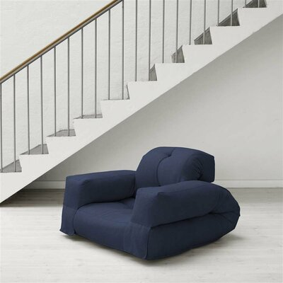 Hippo Futon Chair Upholstery: Navy