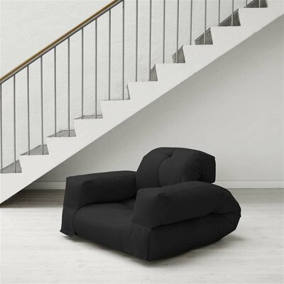 Hippo Futon Chair Upholstery: Black