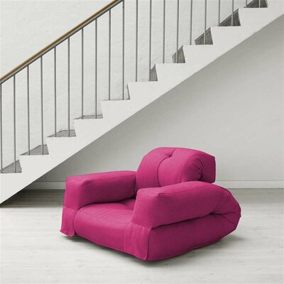 Hippo Futon Chair Upholstery: Pink