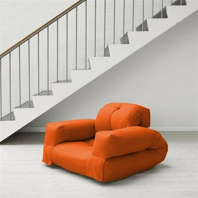 Hippo Futon Chair Upholstery: Orange