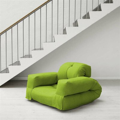 Hippo Futon Chair Upholstery: Lime