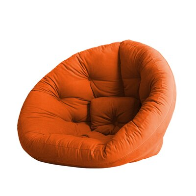 Nido Futon Chair Color: Orange