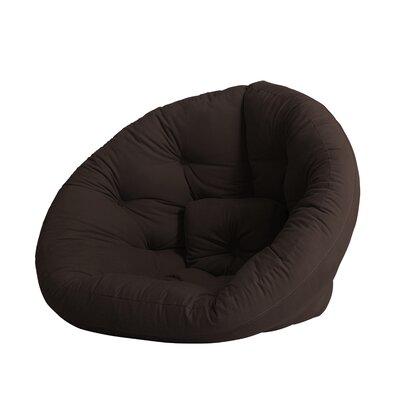Nido Futon Chair Color: Chocolate
