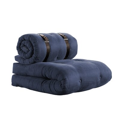 Buckle Up Futon Chair Finish: Navy