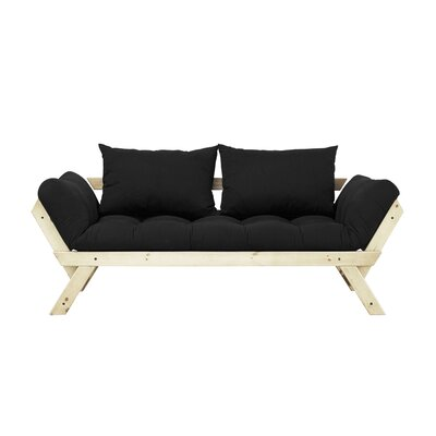 Bebop Futon and Mattress Finish: Natural/Black