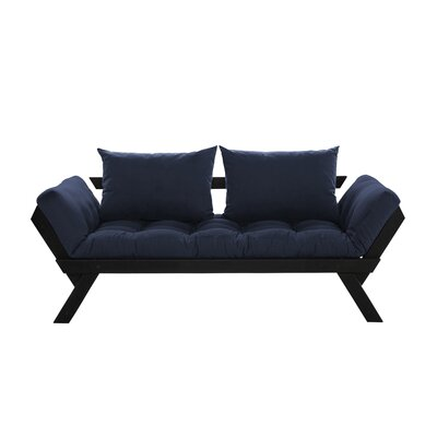 Bebop Futon and Mattress Finish: Black/Navy