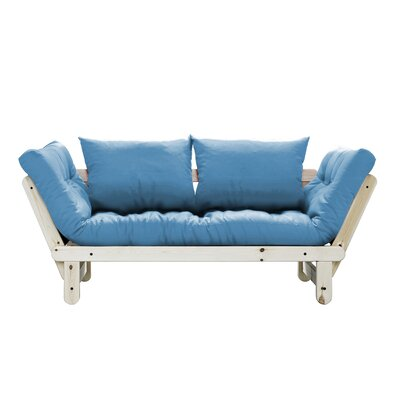 Beat Futon and Mattress Finish: Black, Upholstery: Blue