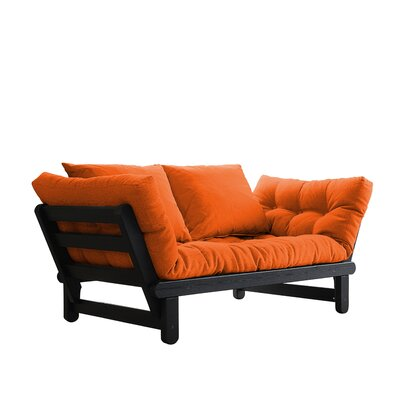 Beat Futon and Mattress Finish: Black, Upholstery: Orange