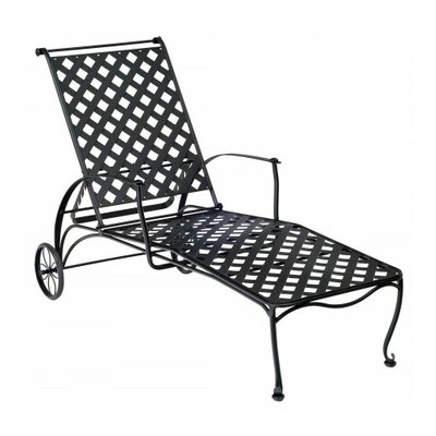 Maddox Chaise Lounge Finish: Hammered Pewter
