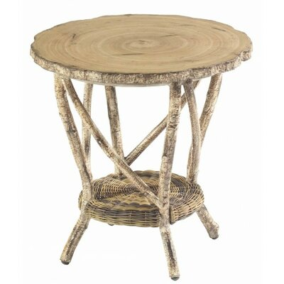 River Run End Table with Faux Birch Top