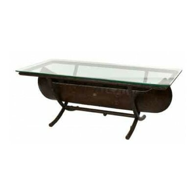 Chatham Canoe Cocktail Table with Glass Top