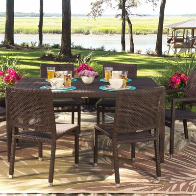 All-Weather Miami Rectangular Dining Table Finish: Mocha