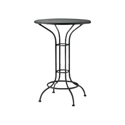 Bar Height Outdoor Round Mesh Top Bistro Table Finish: Textured Black