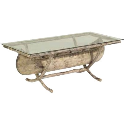 River Run Canoe Cocktail Table with Glass Top