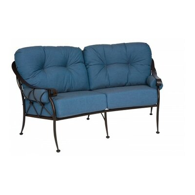 Derby Crescent Loveseat with Cushions
