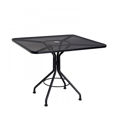 Mesh Top Contract Square Wrought Iron Dining Table 443 Item Image