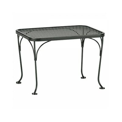 Mesh Top Occasional Side Table Finish: Textured Black, Table Size: 18 x 36