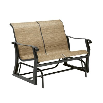 Cortland Sling Gliding Loveseat Fabric: Augustine Pear 420473-10B