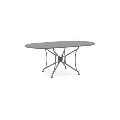 Briarwood Oval Umbrella Dining Table Finish: Hammered Pewter