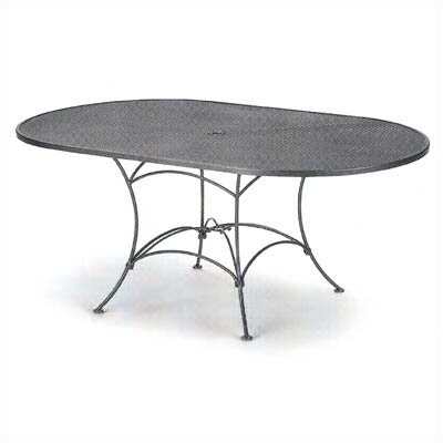 Mesh Top Set-Up Oval Dining Table Finish: Hammered White