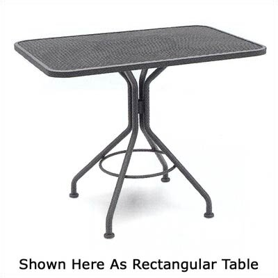 Mesh Top Contract 36 Square Dining/Umbrella Table Finish: Graphite
