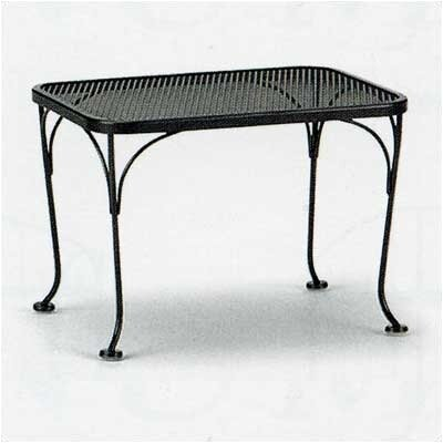 Mesh Top Occasional Side Table Finish: Hammered Pewter, Table Size: 18 x 24