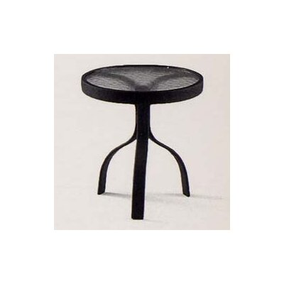 18 Deluxe Obscure Glass Occasional Table Finish: Textured Black
