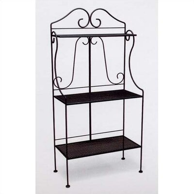 Deluxe Bakers Rack Finish: Black