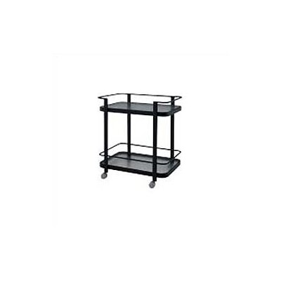 Deluxe Obscure Glass Tea Cart Finish: Textured Black