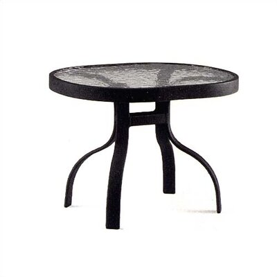 Deluxe Obscure Glass Side Table Finish: Hammered Pewter