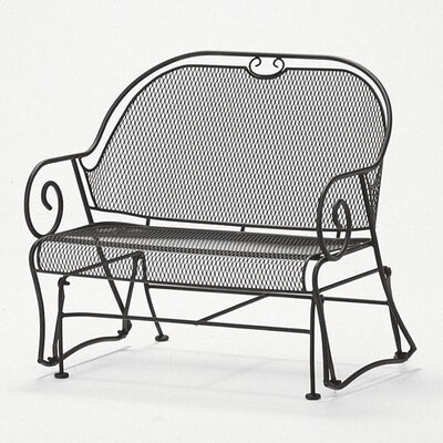 Cantebury Gliding Barrel Loveseat Finish: Hammered Pewter