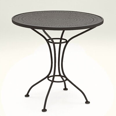 Parisienne 30 Round Bistro Table with Pattern Metal Top Finish: Black