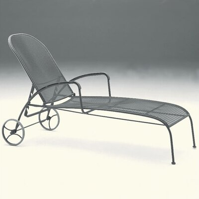 Valencia Adjustable Chaise Lounge Finish: Black