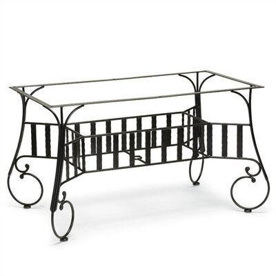 (wrought iron dining table) Woodard Deauville Large Dining Table