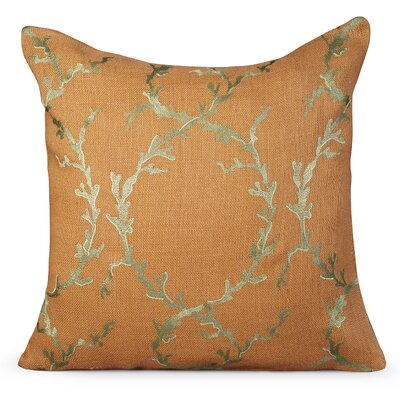 Coastal Burlap Throw Pillow Color: Golden Nugget