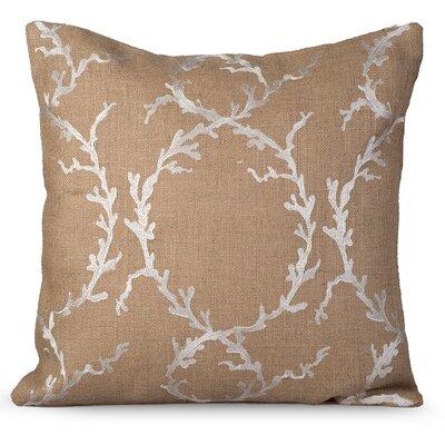 Coastal Burlap Throw Pillow Color: Natural