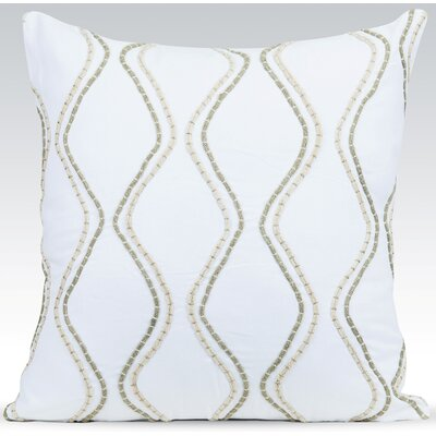 Enlace Throw Pillow Color: White