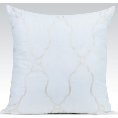 Viola Sheer Cotton Throw Pillow Color: Ivory