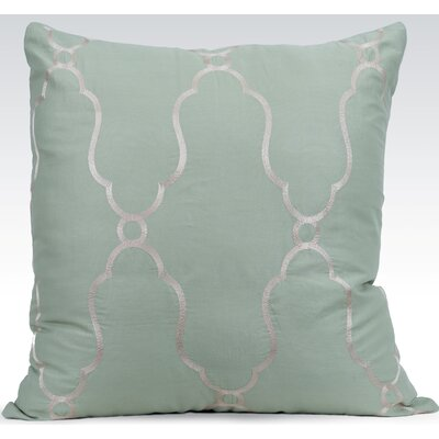 Viola Sheer Cotton Throw Pillow Color: Seafoam Green