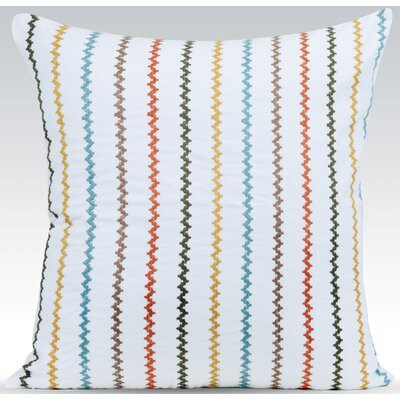 Vibrant Throw Pillow Color: White